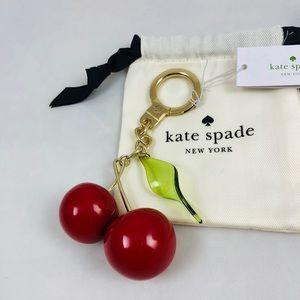 New! Kate Spade Cherries Keychain Charm Key Fob